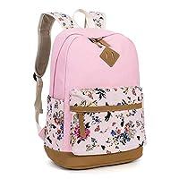 Leaper School Backpack Floral Pink[8891]