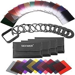 Neewer 40-en-1 Filtre ND Carré Gradué Compatible avec Cokin P Série Bundle pour DSLR Verre HD Cadre Fileté en Aluminium avec Porte-Filtre Bague Adaptation Capuchon d'Objectif