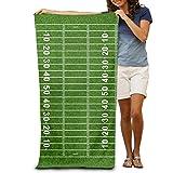 Donola American Football Field 100% poliestere telo da spiaggia sedia ad asciugatura rapida, leggero, spesso e morbido coperta 78,7x 129,5cm