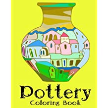 Pottery Coloring Book - 32 Designs to Color in - Vases Colouring Book: Only one design per page