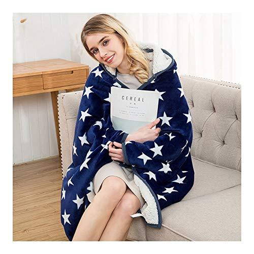 XF Blanket Travel Kids Hooded Blankets Sweatshirt Warme Fleece-Mäntel TV-Decken (Color : 01, Size : No hat) Kind Hooded Fleece-sweatshirt