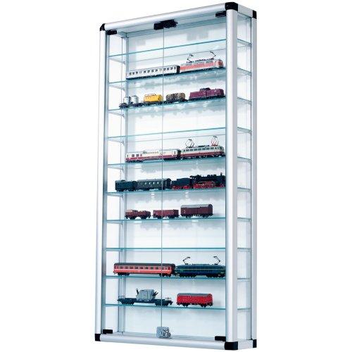 Sammelvitrine-aus-Aluminium-und-Glas-abschliebar-60-x-120-cm