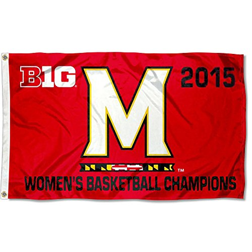 College Flags and Banners Co. Maryland Sumpfschildkröten Damen Big 10Champs Logo Flagge Big Ten Flags