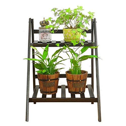 FZN Fer Plusieurs Couches Fleur Racks Extérieure Fleur Pot Rack Ladder Landing Fleur Racks Étagère De Fleur (Taille: 50 * 35 * 65 Cm) Pots de Fleurs (Couleur : A)