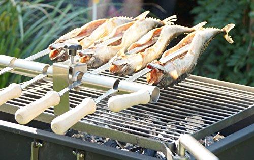 Steckerlfisch Grillaufsatz - Fischgrill Aufsatz - Steckerlfisch Griller