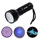 LOFTEK® 51 UV -Taschenlampe 395 UV-LED Schwarzlicht Perfekte Urinfleckendetektor Taschenlampe Scorpion Licht mit 3 AA- Batterien