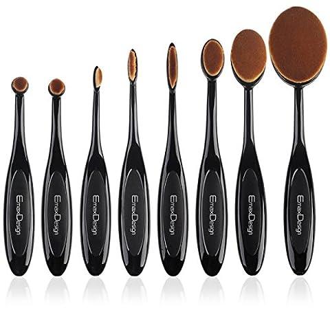 EmaxDesign ovale Set de pinceaux à maquillage, 8 Pinceaux Maquillage