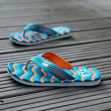 Unisex Sandalen Sommer Sandalen Stoff beiläufige flache Ferse Anderes Schwarz / Blau / Grün / Orange Ot Sandalen US10 / EU43 / UK9 / CN44