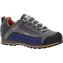 Zapatillas Chiruca Cyclon 02 color gris azul y naranja piel - GORETEX