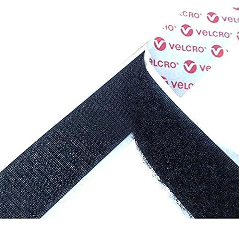 Velcro® Marke PS14selbstklebend Sticky Back Tape Strip Haken/Schlaufe Schwarz in verschiedenen Größen & Längen