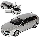 Alfa Romeo 159 SW Sportwagon Kombi Silber 2005-2011 1/24 Motormax Modell Auto