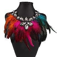 DUUMY Women Fashion Personality Popular Full Rhinestone Choker Crystal Short Necklace (2.5 cm wide) 1pc , white