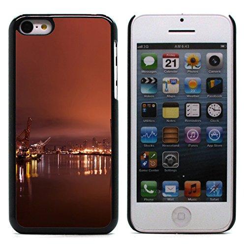 Graphic4You Seattle Skyline Postkarte Ansichtskarte Design Harte Hülle Case Tasche Schutzhülle für Apple iPhone 5C Design #2