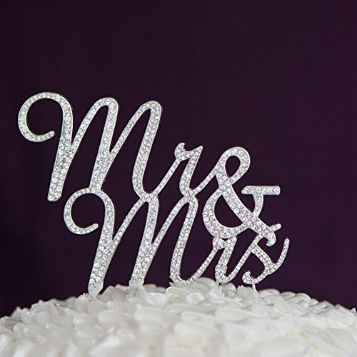 Zantec exquis Pied lettres Mr & Mrs pour gâteau de mariage Pros anniversaire Décoration de fête