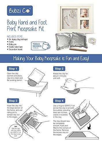 Baby Handabdruck und Fussabdruck Rahmenkit - 5