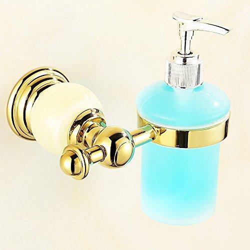 tike Gold Jade Badezimmer Seifenspender Hand Sanitizer Tasse Halter Badezimmer Zubehör (Farbe : Green Onyx) ()