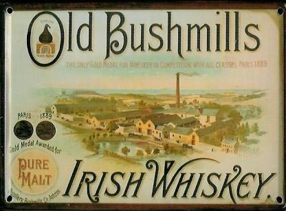 old-bushmills-mini-plaque-plaque-de-tle-carte-postale-irish-whiskey-8x-11cm-nostalgie-rtro-plaque-me