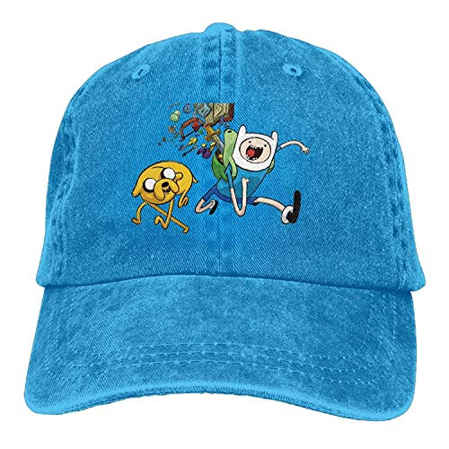 Hoswee Unisex Kappe/Baseballkappe, Adventure Time with Finn & Jake Trend Printing Cowboy Hat Fashion Baseball Cap for Men and Women Black (Adventure Time Jake Mütze)