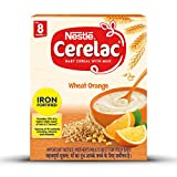 Nestlé CERELAC Fortified Baby Cereal with Milk, Wheat Orange - From 8 Months, 300g BIB Pack