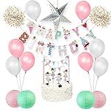 Kinder Geburtstagsparty Dekoration Mädchen Happy Birthday Banner Luftballons