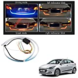 #9: Vheelocityin Blue Light Car Tail Lamp Strip With Red Backlight And Flowing Indicators For Hyundai I20 New