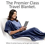 Travelrest 4-in-1 Premier Class Travel Blanket with Pocket - Covers Shoulders - Soft
