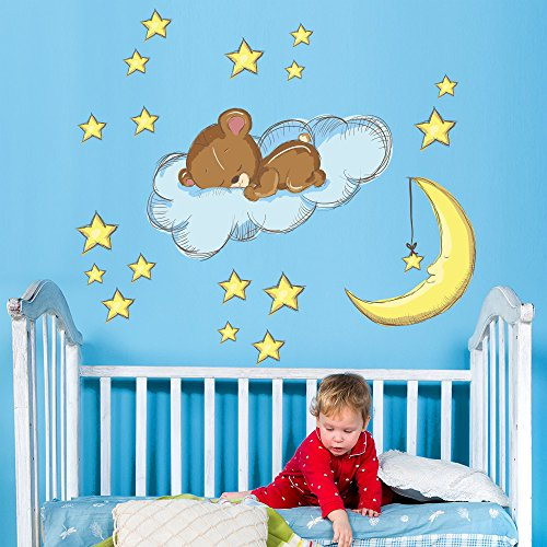 Wall art r00138 pegatinas de pared para ni os peque o oso for Pegatinas pared ninos