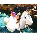 Flotador inflable en forma de unicornio tamaño gigante para la piscina o playa. Unicornio flotador hinchable para la piscina o la playa por Integrity co