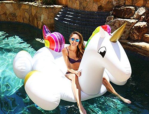 Riesiger aufblasbarer Einhorn Luftmatratzen. Aufblasbarer Einhorn Schwimmring Pool Floß Durch Integrity Co
