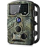 """apeman Wildkamera mit Bewegungsmelder 1080P 12MP 120° Weitwinkel Nachtsicht 20 m mit 2.4"""" LCD Display IP66 Wasserdichtes Gehäuse für die Jagd und Heimtraining Fotofalle, grün"""