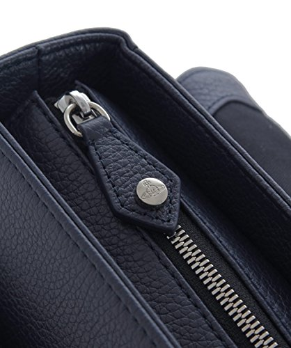 Vivienne Westwood Man Hommes Cuir Milano Postman Bag Bleu Bleu