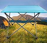 DONGY Outdoor-Picknicktisch Ultraleichte, tragbare Aluminiumlegierung blau Klapptisch Barbecue-Tisch Campingtisch Picknicktisch Klappbarer Tisch