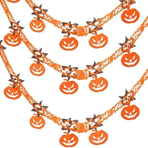 xianheng Halloween Hängeornamente Creepy Requisiten Party Decor Horrible Zubehör, Papier, Pumpkin String D 3PC, (Office Halloween Supplies Kostüme)