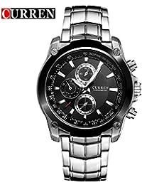05dc4787059e Curren 8025 Trendy Design Men Round Case Reloj de Pulsera de Acero  Inoxidable Reloj de Pulsera