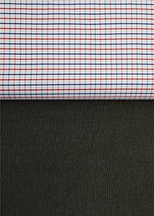 Grasim Men's Combo Set Fabric (Premier 2_Red and Blue Checks_Free Size)