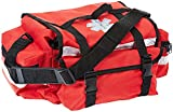 Red Emergency Paramedic First Response Trauma Bag with Refill Contents Option (EMPTY Bag only - Red Trauma Bag)