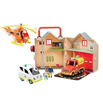 Fireman Sam Heroes of the Storm Play set- Include fire station, venus, ambulance, rescue helicopter and figures