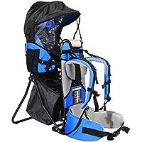FA Sports -Lil´Boss Kids Carrier - Zaino porta bimbo, Blu (Blu/Grigio/Nero), 90 cm