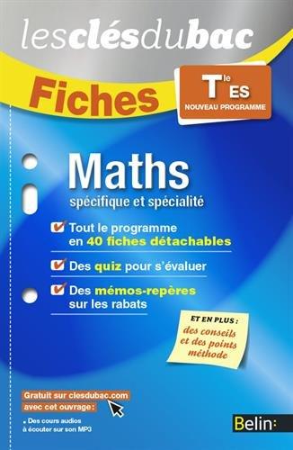 Maths T ES SPECIF SPE - Les Clés du Bac