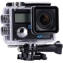 nk-ac3222-pdp Videocamera sportiva NK 4K da 16Megapixel, sensore Sony imx078, schermo LCD 2pollici A Colori, colore nero (ricondizionato certificato)