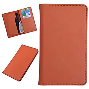 DCR Pu Leather case cover for Lava Xolo Play (orange)