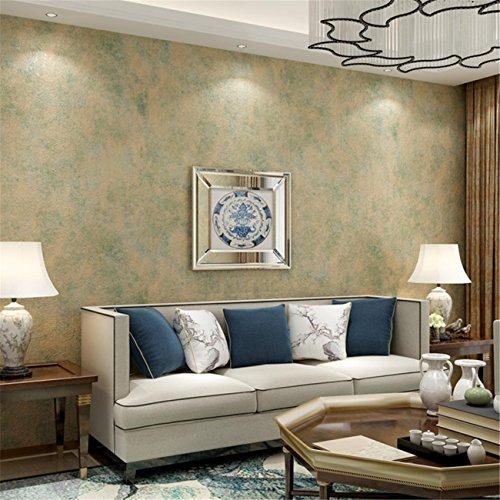 Tapeten Modern Einfache Normallack Umwelt Vliesstoffe Tapeten Wohnzimmer Schlafzimmer Sofa Fernsehen Hintergrund Non-Self Adhesive Wallpaper Roll 0.53m * 10m = 5.3㎡ Mehrfarbig Optional, ss072 Yellow -