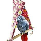YaToy Juguetes para pájaros loro algodón nido juguetes columpio nido Rosado