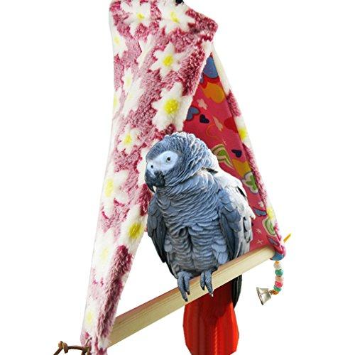 YaToy Winter Vogel Barsch Zelt Warm Parrot Swing Hänge Medium Vogel Spielzeug Rosa (Vogel-zelt Medium)