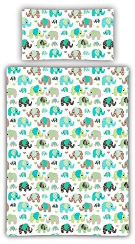 Kinderbettwäsche viele Designs 2-tlg. 100% Baumwolle 40×60 + 100×135 cm