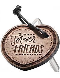 """Schlüsselanhänger aus Holz – Herz """"Forever Friends"""" Gravur …"""