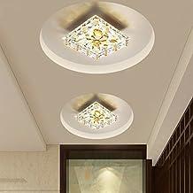 KANG@ Luci a soffitto per la stanza dei ragazzi,cucina,camera da pranzo,corridoio,Bar arredamento moderno lampadario,18cm Three-Color Outfit 12W,