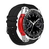 Jweal Sport-Smartwatch, IPS-Touchscreen, GPS-Positionierung, MTK6580 Smart-Watch, unterstützt Informationen Push, Bluetooth-Anrufe, genaue GPS-Positionierung, Navigation, kompatibel mit iOS Android, silberfarben / rot