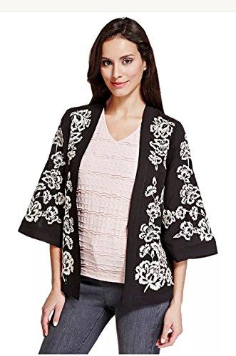 marks-spencer-per-una-floreale-bianco-e-nero-ricamato-giacca-da-donna-stile-kimono-taglia-x-large-co