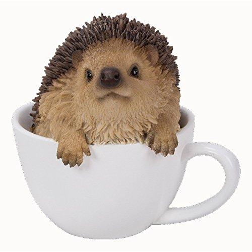 Vivid Arts Dekofigur, Baby-Igel in einer Tee-Tasse -